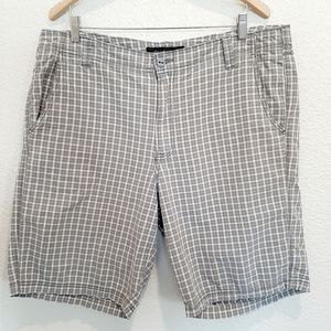 Calvin Klein Tan Plaid 100% Cotton Shorts Size 38